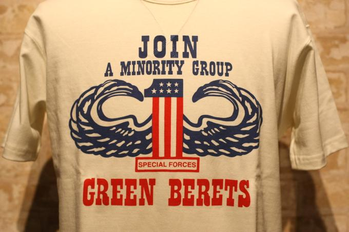 Toys For Minorities : Ss トイズマッコイ ミリタリーtシャツ グリーンベレー join a minority group